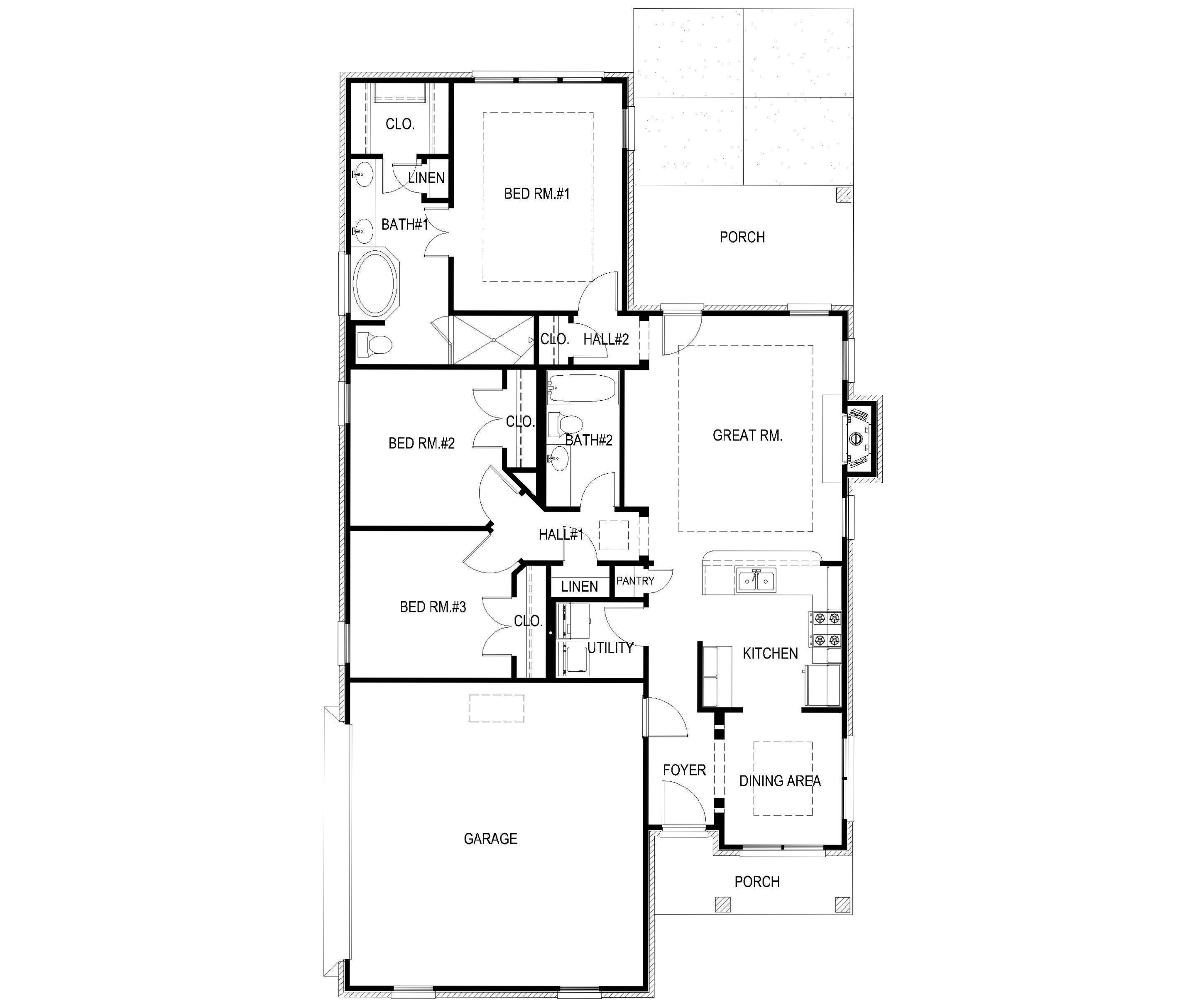 Narrow lot floor planalabama home design - Narrow house plan paint ...