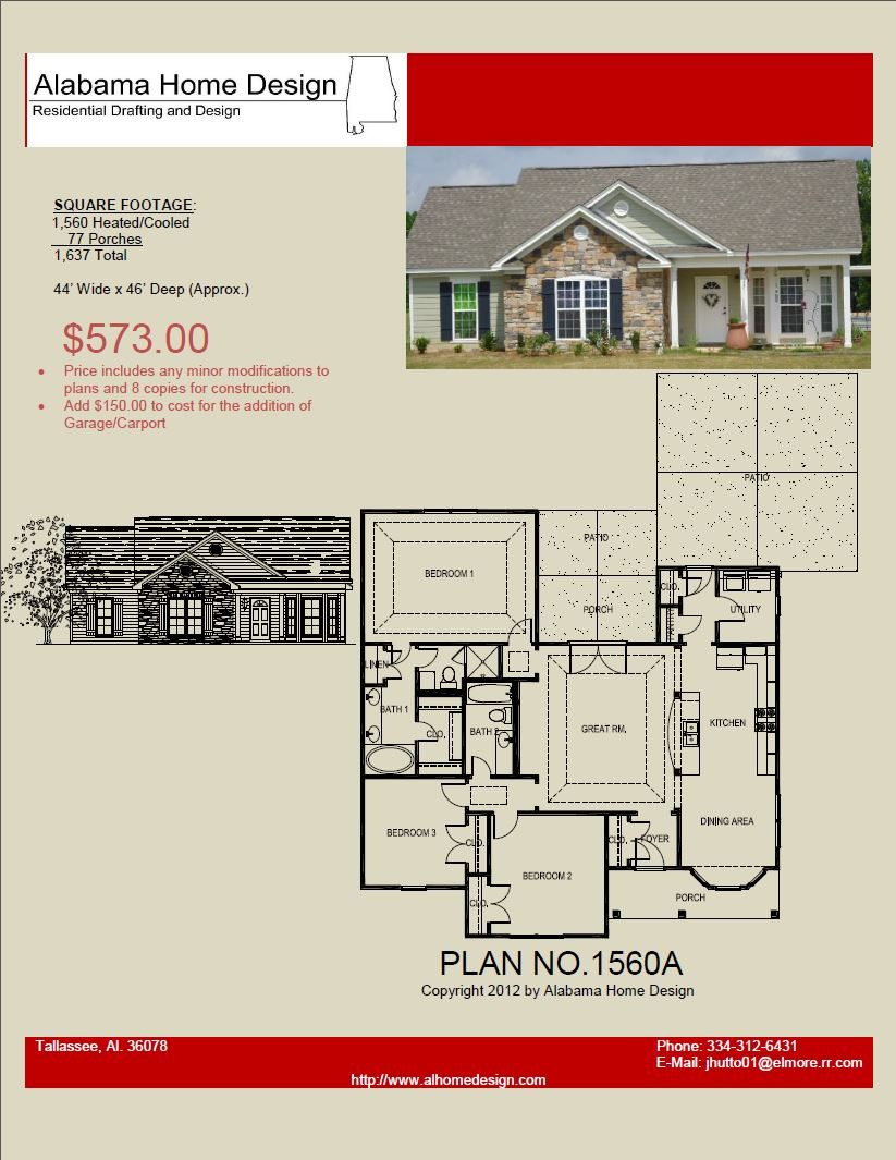 House plans under 2 000 sq ft alabama home design for Farmhouse plans under 2000 sq ft