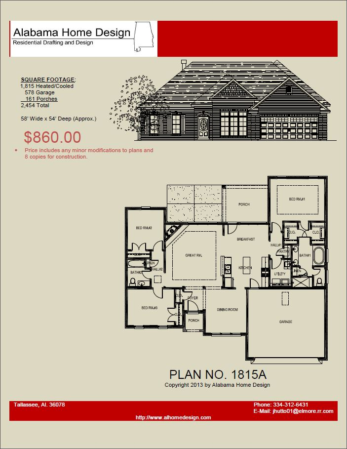 Floor plans for 2000 sq ft house for House plans alabama